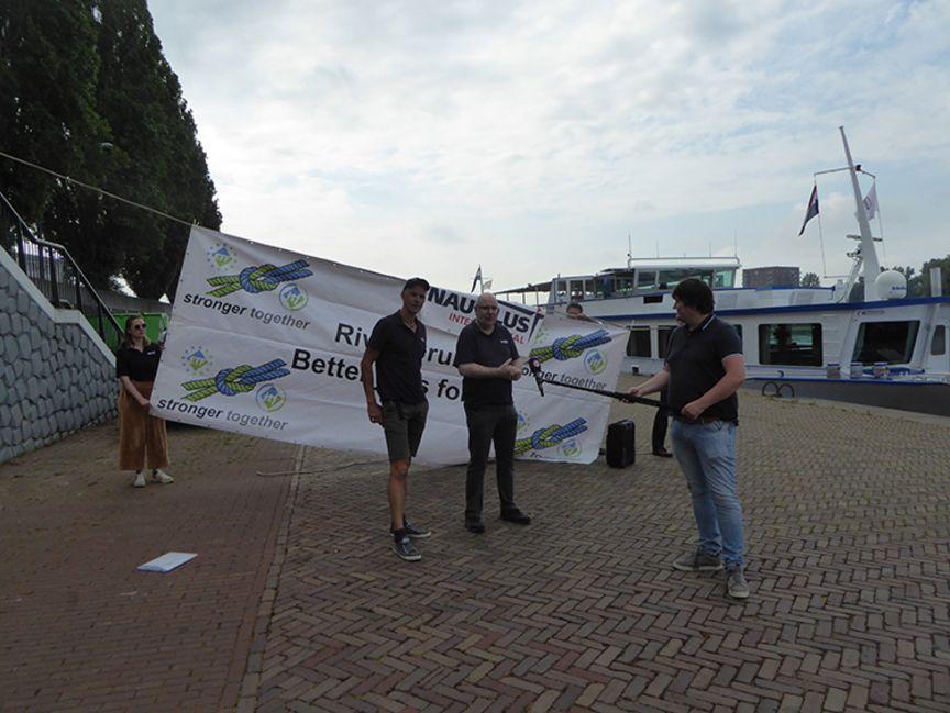 Vakbond Nautilus gaat de straat op om misstanden in de passagiersvaart te belichten. (Foto Nautilus)