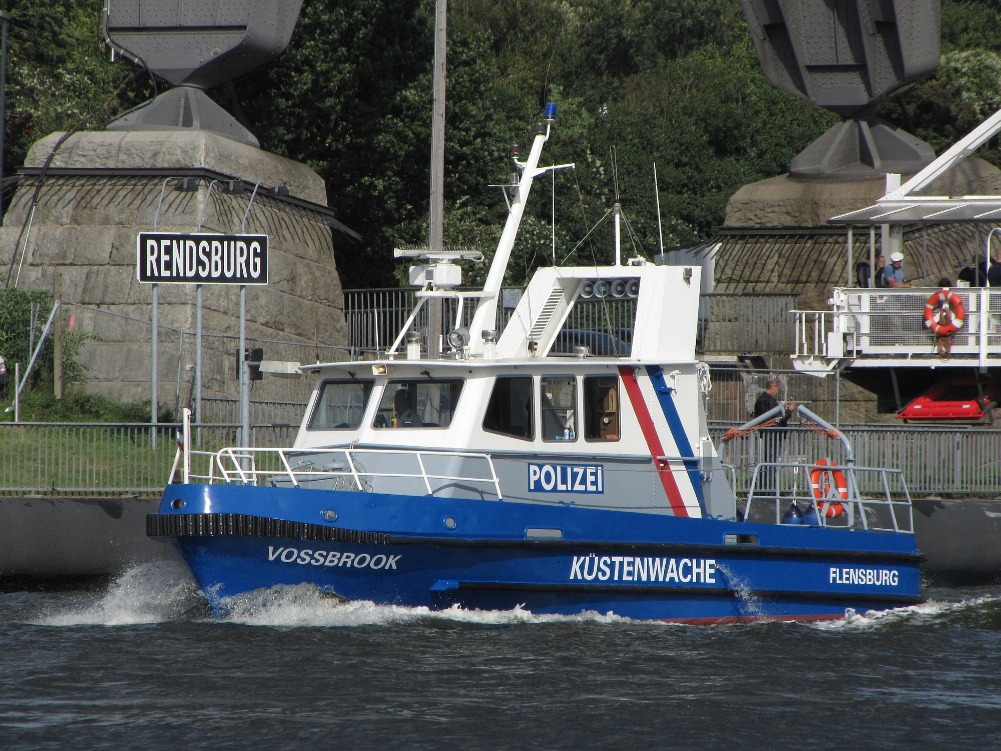 WSP-patrouilleboot op het Noord-Oostzeekanaal. (Foto Wikimedia Commons)