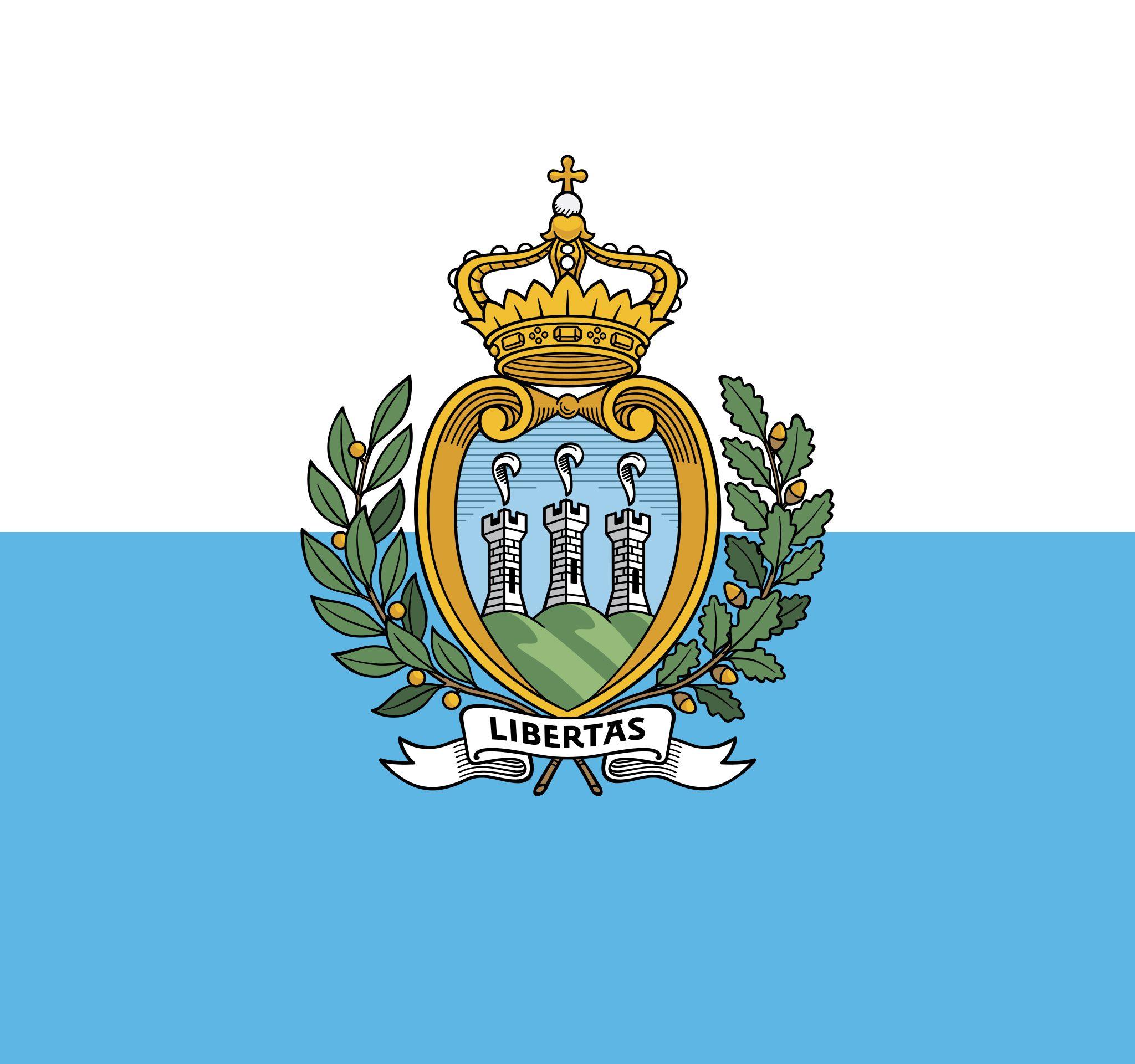 BOO2134 Vlag van San Marino (Beeld Wikimedia Commons)
