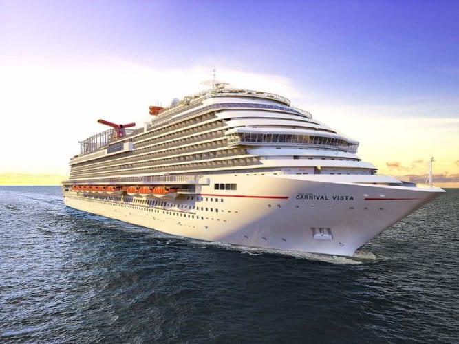 De Carnival Vista was het eerste schip dat in juli vanuit Galveston weer ging varen. (Foto Carnival Cruises)