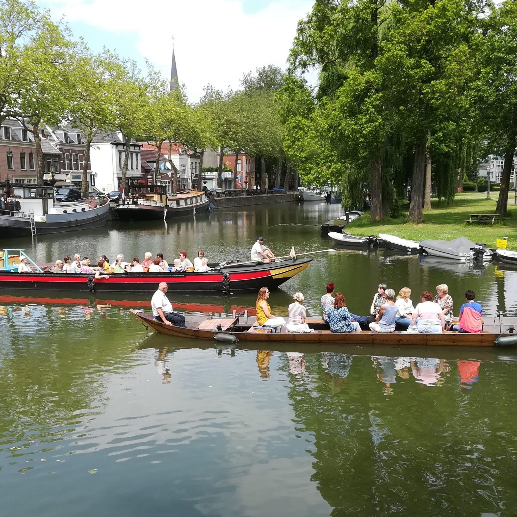 De Hoop en Vertrouwen en de Fiducia in het ouden centrum van Vreeswijk. (Foto Museumwerf Vreeswijk)