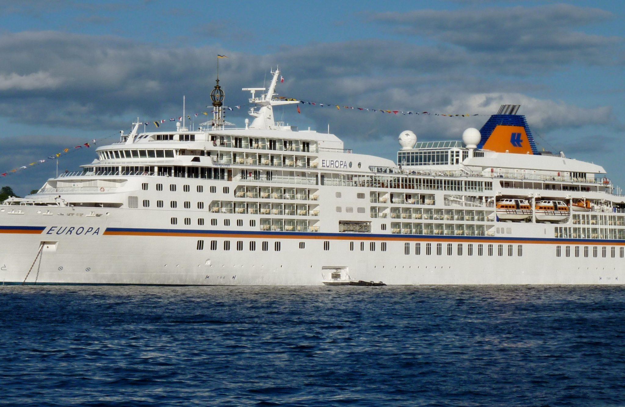 Het cruiseschip ms Europa vaart al sinds 1999 voor Hapag-Lloyd Cruises. (Foto Wikipedia)