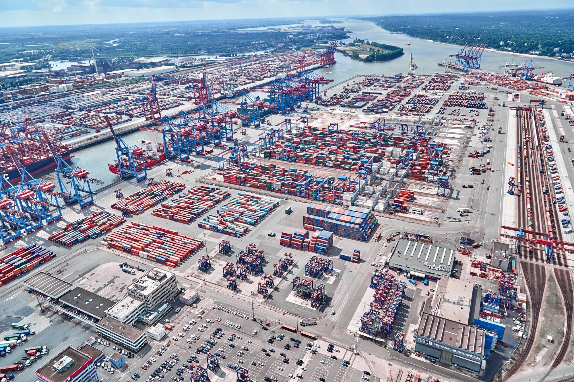 HHLA en Eurogate zijn de grootste havenbedrijven van Duitsland. (Foto HHLA)