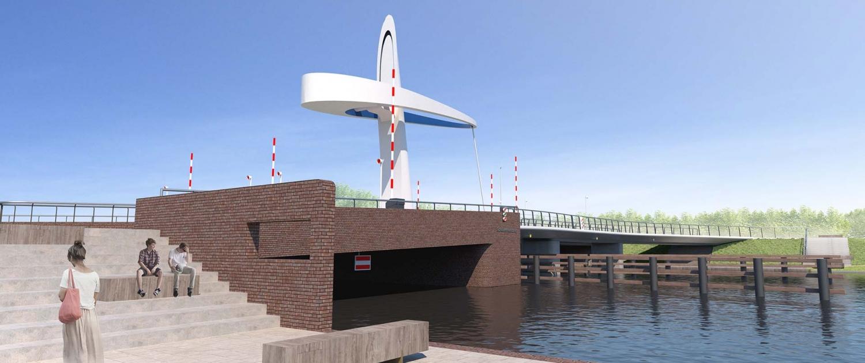 Het ontwerp van de Michiel de Ruyterbrug is van ipv Delft. (Foto ipv Delft)