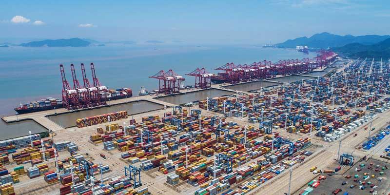 De haven van Ningbo-Zhoushan is de op twee na drukste containerhaven ter wereld. (Foto Ningbo)
