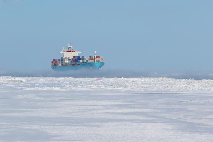 Het Russische Rosatom en DP World gaan reizen via de Noordpool. (Stockfoto)