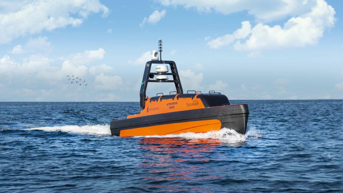 Kongsberg Maritime zorgt voor echosounders en diverse autonome platforms, zoals de Sounder USV. (Foto Kongsberg)