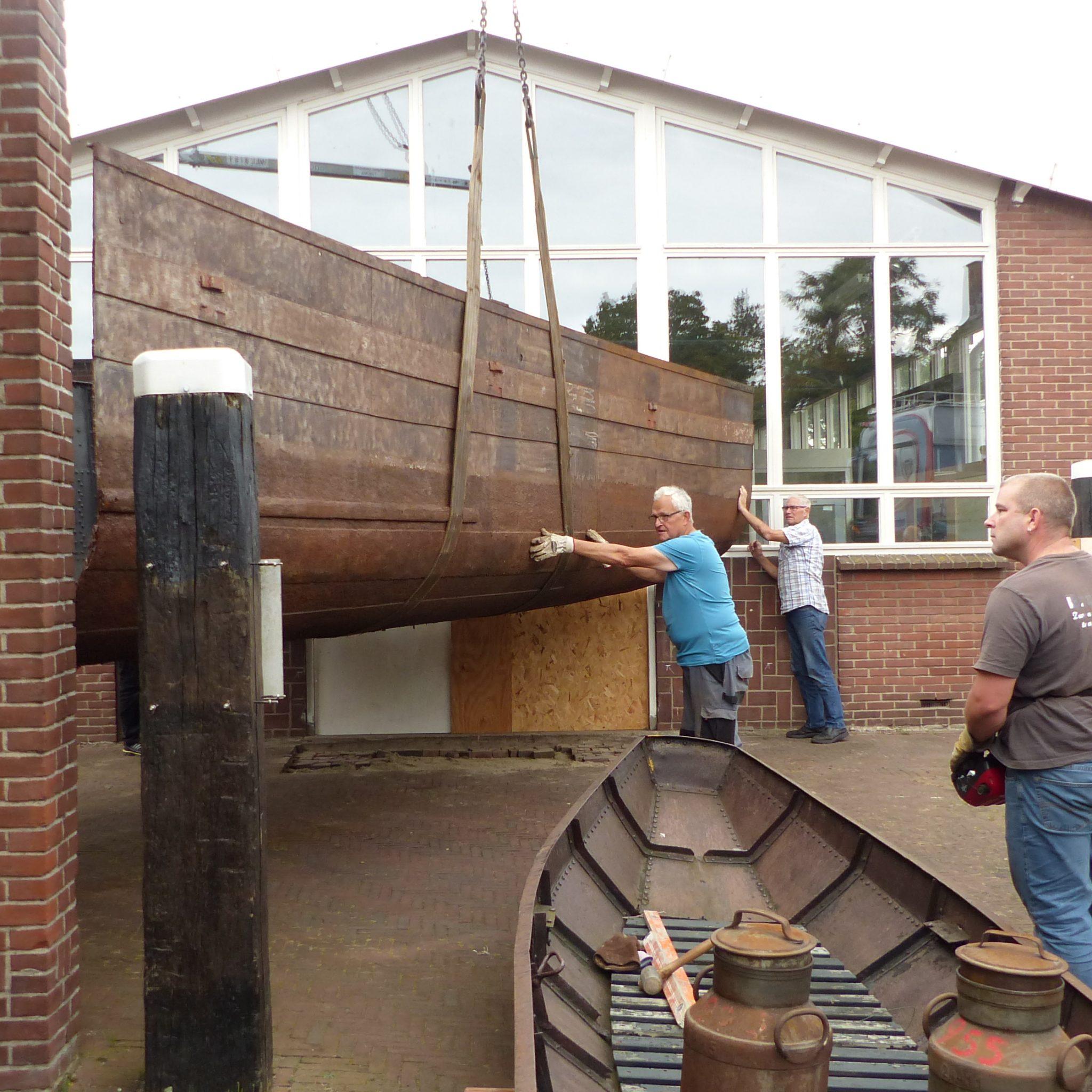 De bijzondere doorgang bij de museumwerf. (Foto Museumwerf Vreeswijk)