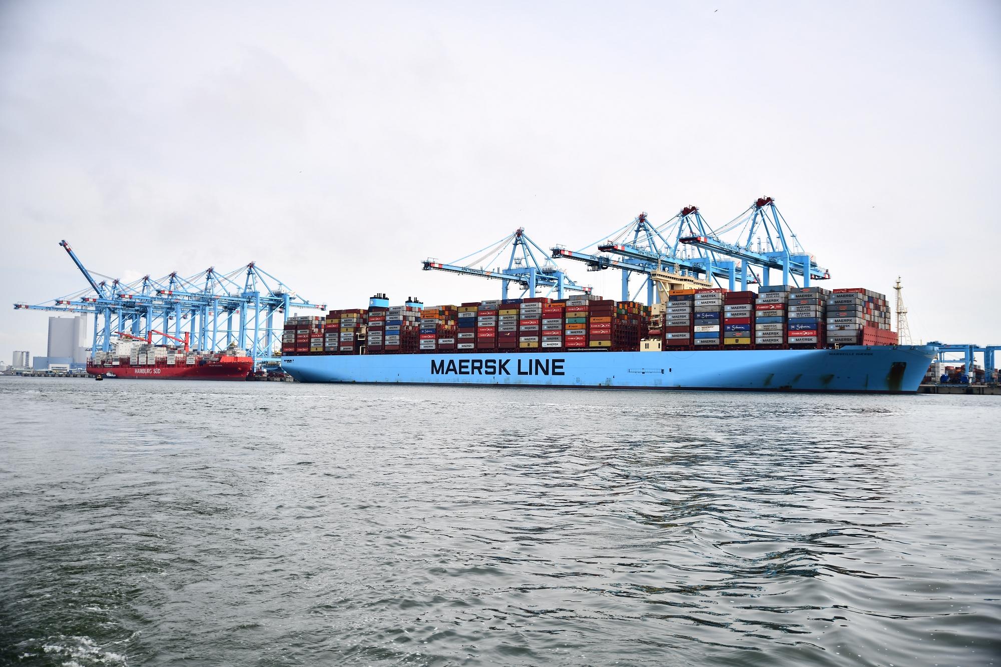 De prijsstijging was voor 's werelds grootste containerrederij A.P. Møller-Maersk al reden de winstraming voor dit jaar met bijna 5 miljard dollar (4,2 miljard euro) te verhogen. (Foto Maersk)