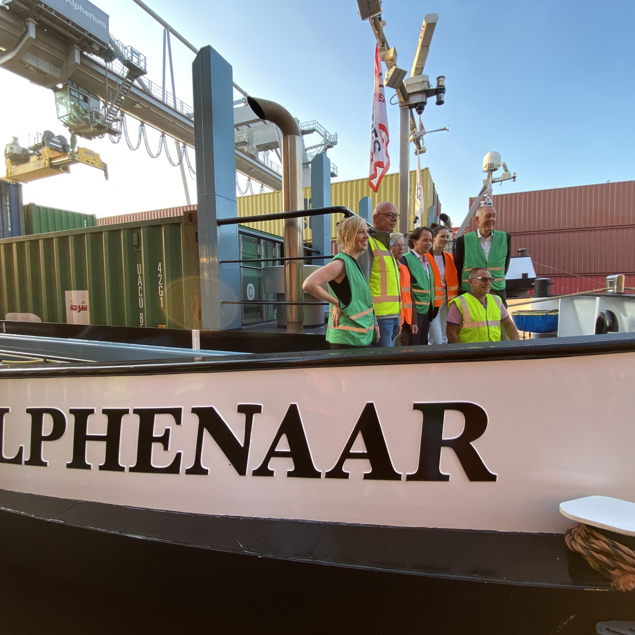Team ZES op de Alphenaar. (Foto Jelmer Bastiaans)