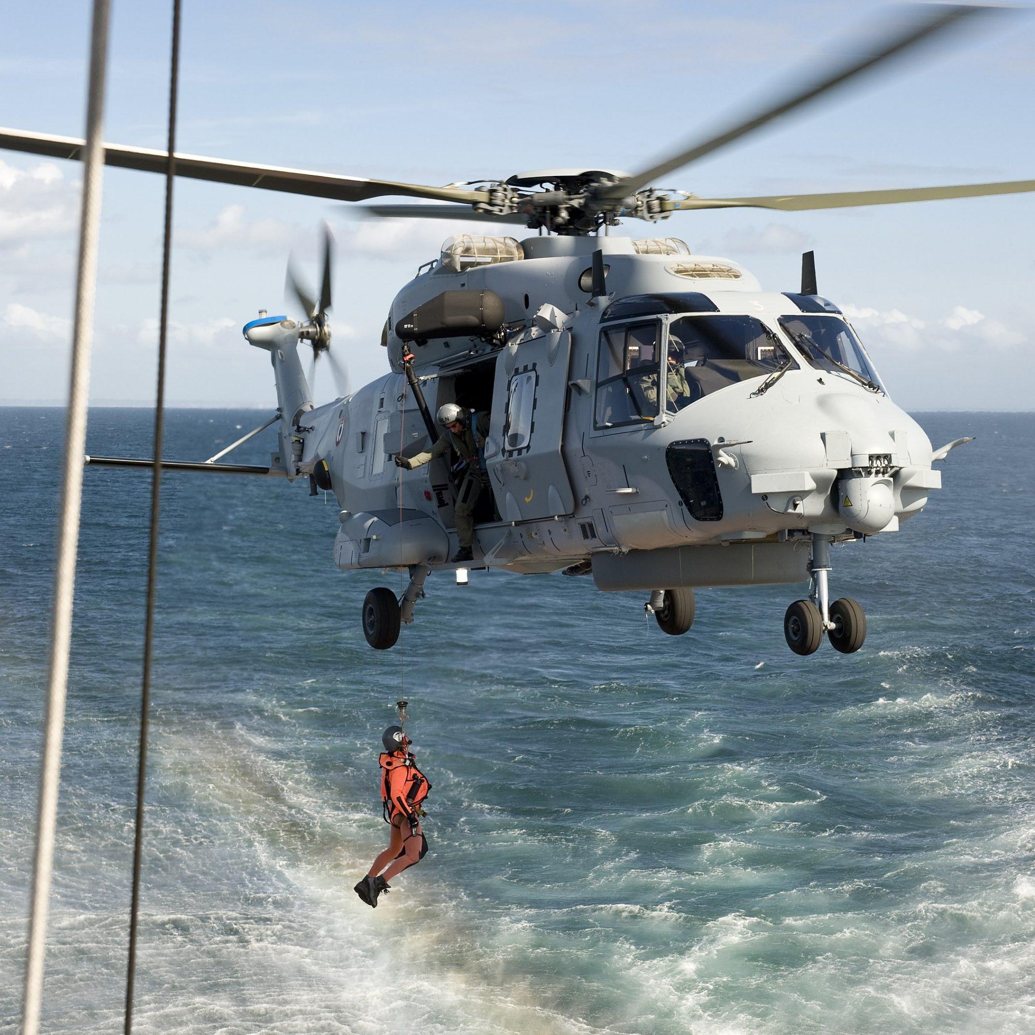 BOO2136 Evacuatie met Caiman-heli van de Franse Marine. (Voorbeeldfoto Wikimedia)