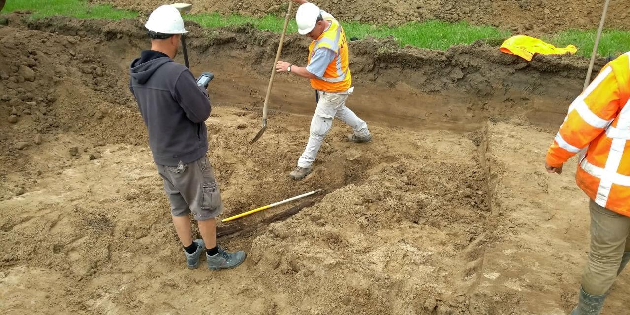 Archeologen van Raap hebben in de Beijenwaard een legerkamp uit de Tachtigjarige Oorlog opgegraven. (Foto Raap)