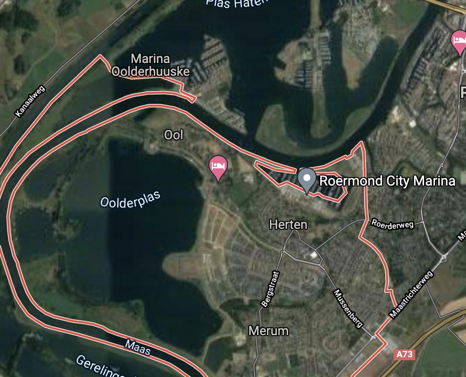 De Maas bij Roermond. (Foto Google Maps)