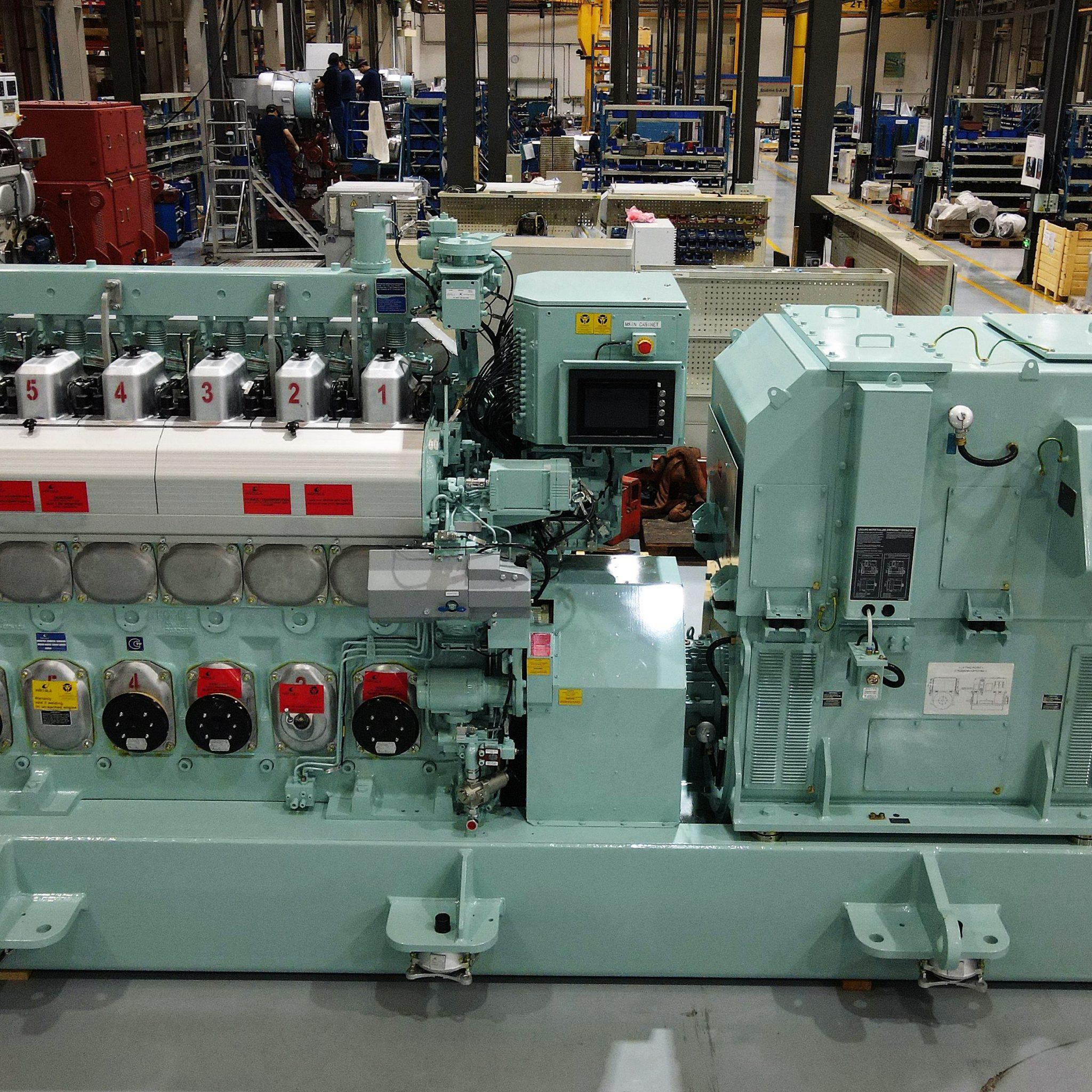 De verbeterde Wärtsilä 20DF dual fuel-motor heeft een hoger vermogen en kan een bredere range gaskwaliteiten aan. De methaanslip is verlaagd. (Foto Wärtsilä)
