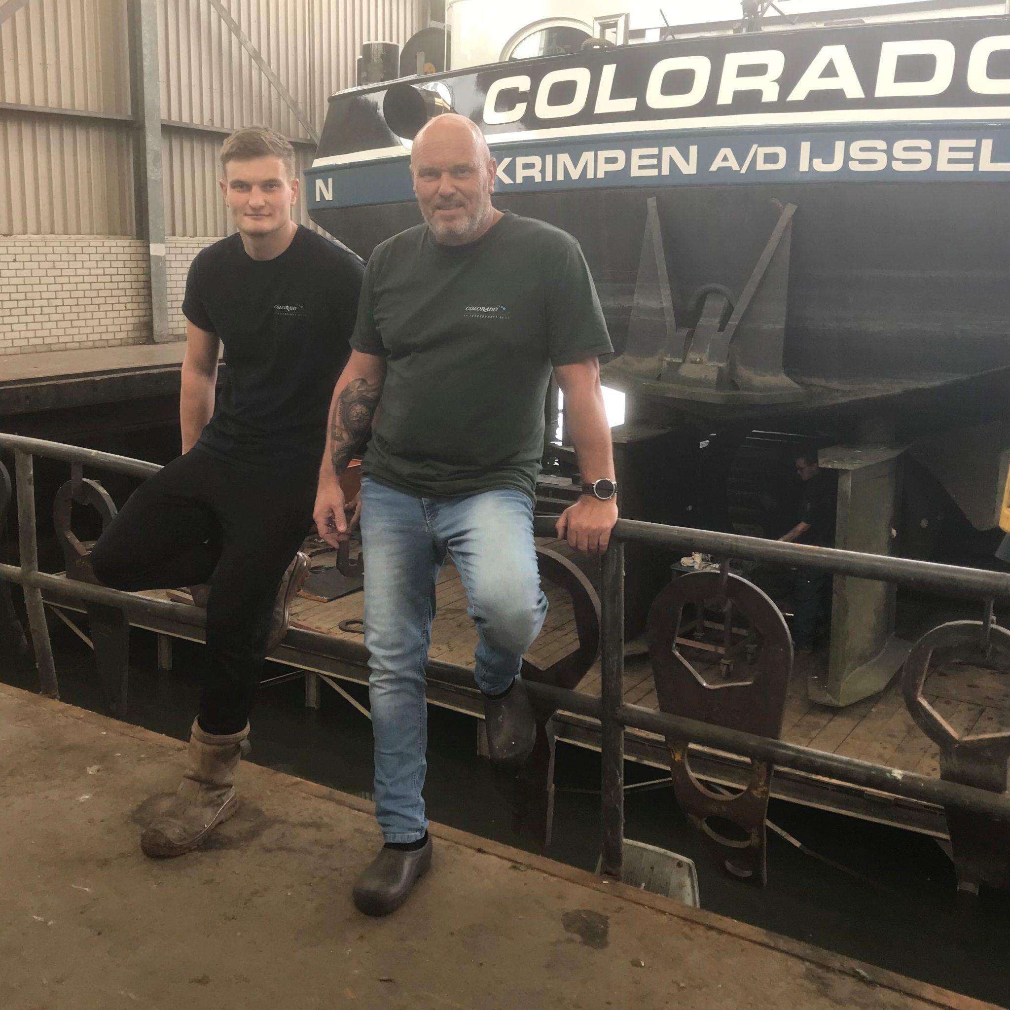 De Colorado ligt voor het eerst in de scheepslift in Werkendam. (Foto Hannie Visser-Kieboom)