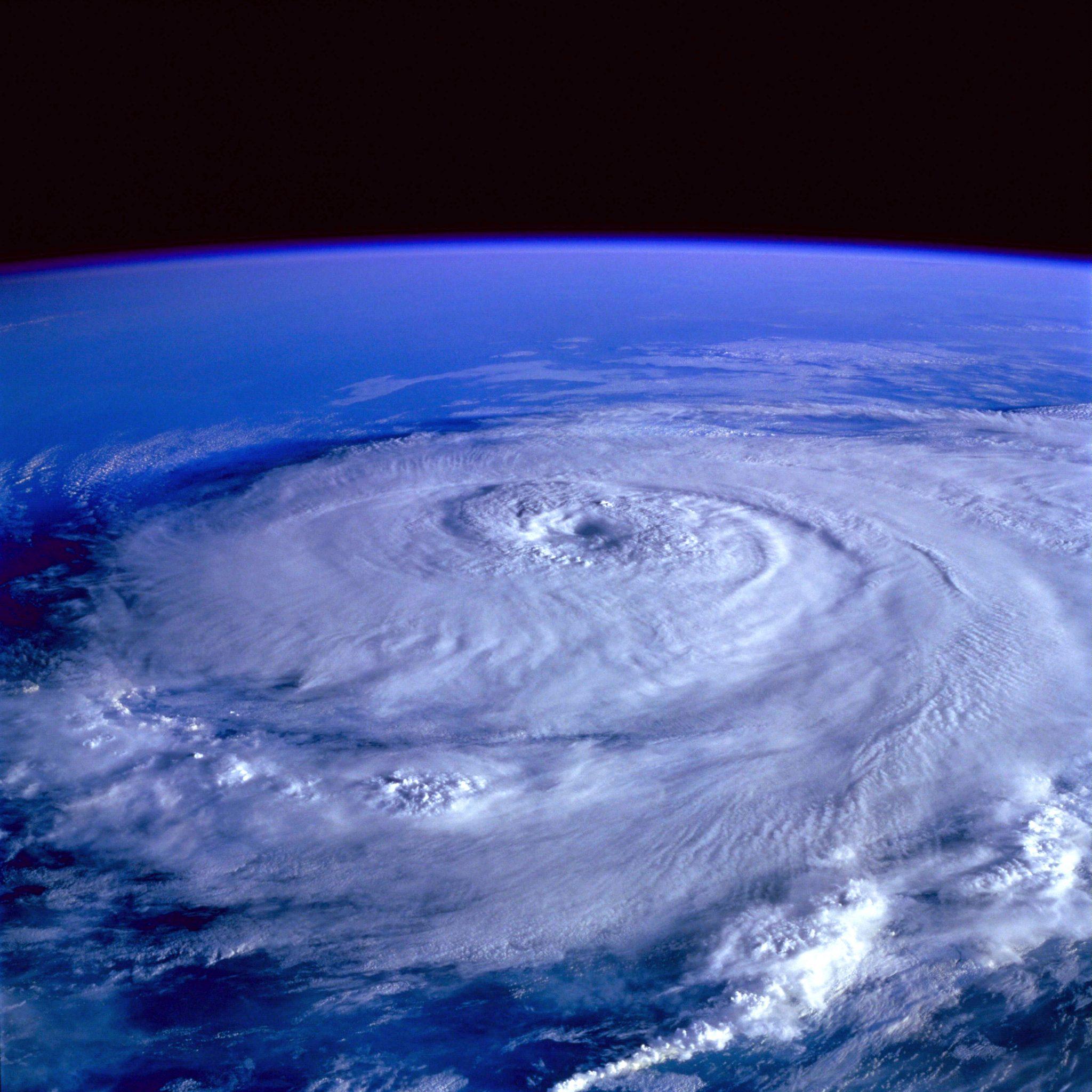 Orkaan Elena boven de golf van Mexico ter illustratie. (Foto Wikipedia)