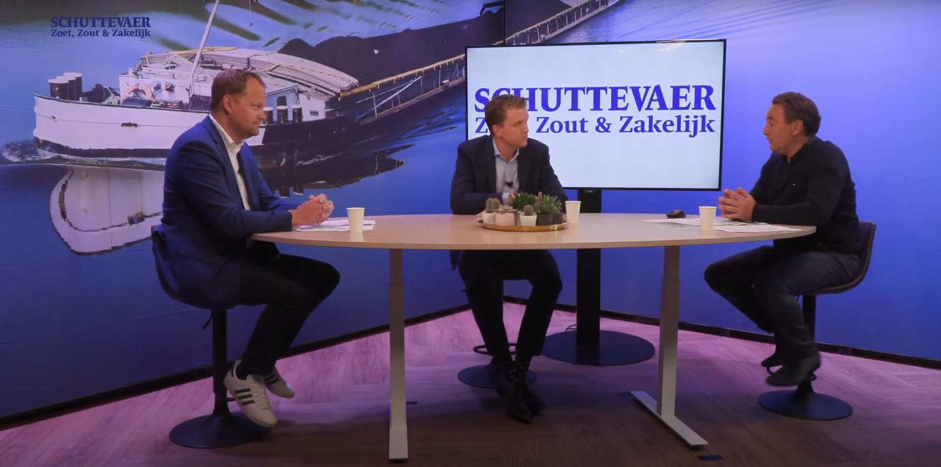 Nick Lurkin (KVNR) en Erik Salverda (NMT) in de uitzending van Studio Schuttevaer. (Beeld uit uitzending)