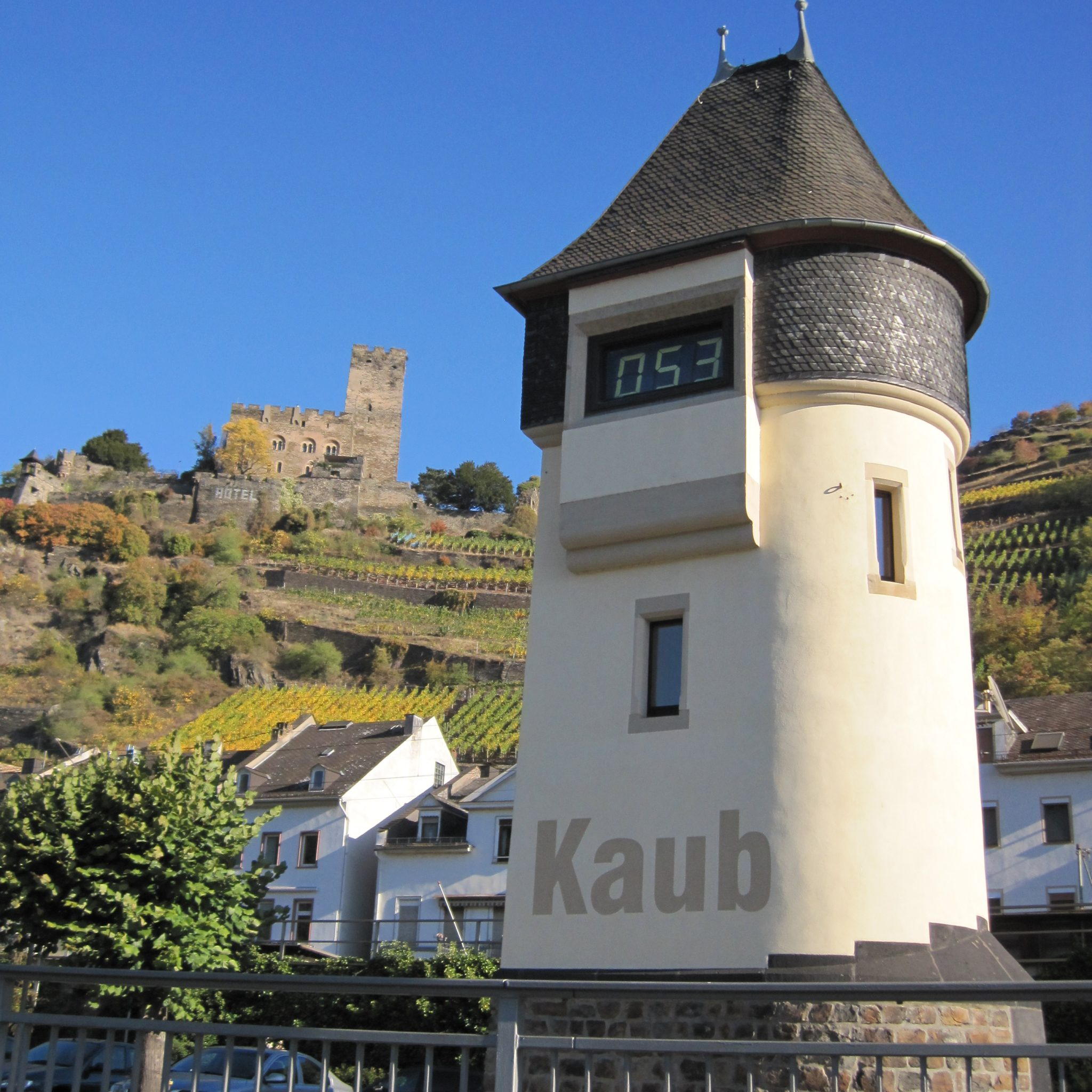 Ter illustratie: de pegel bij Kaub. (Foto Wikimedia)