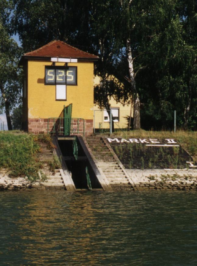 Ter illustratie: De Pegel bij Maxau. (Foto Wikimedia)