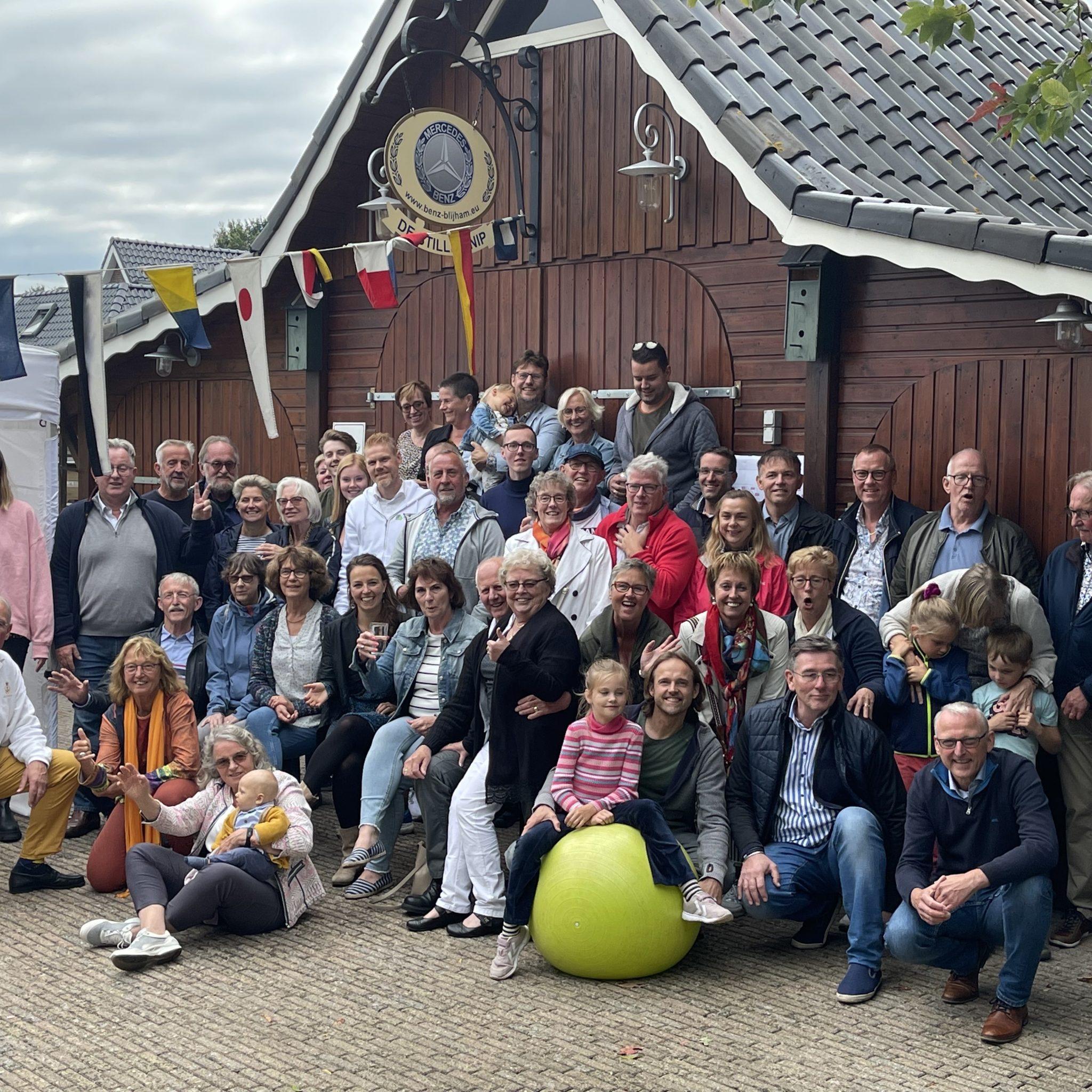De binnenvaartfamilie Westerbeek bij elkaar. (Foto Jan Westerbeek)