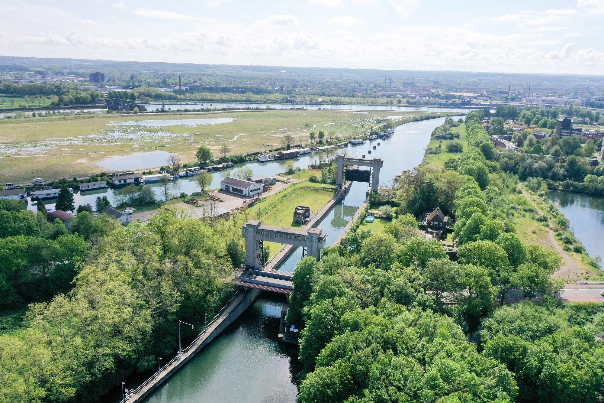 De 91 jaar oude sluis is een Rijksmonument. (Foto Rijkswaterstaat)