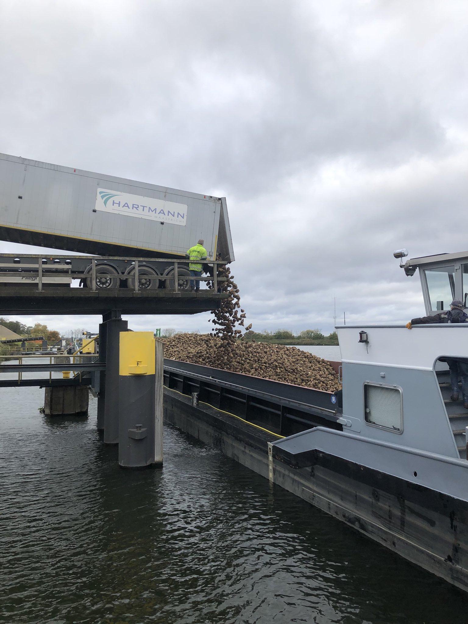 De Cosun Beet Company wil richting de miljoen ton suikerbieten over water per jaar gaan. (Foto Twitter / Arno Huijsmans)