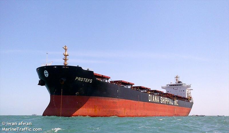Amerikaanse inspecteurs stelden onregelmatigheden vast via het olie-logboek aan boord van de 40.230 dwt metende bulkcarrier Protefs. (Foto MarineTraffic)