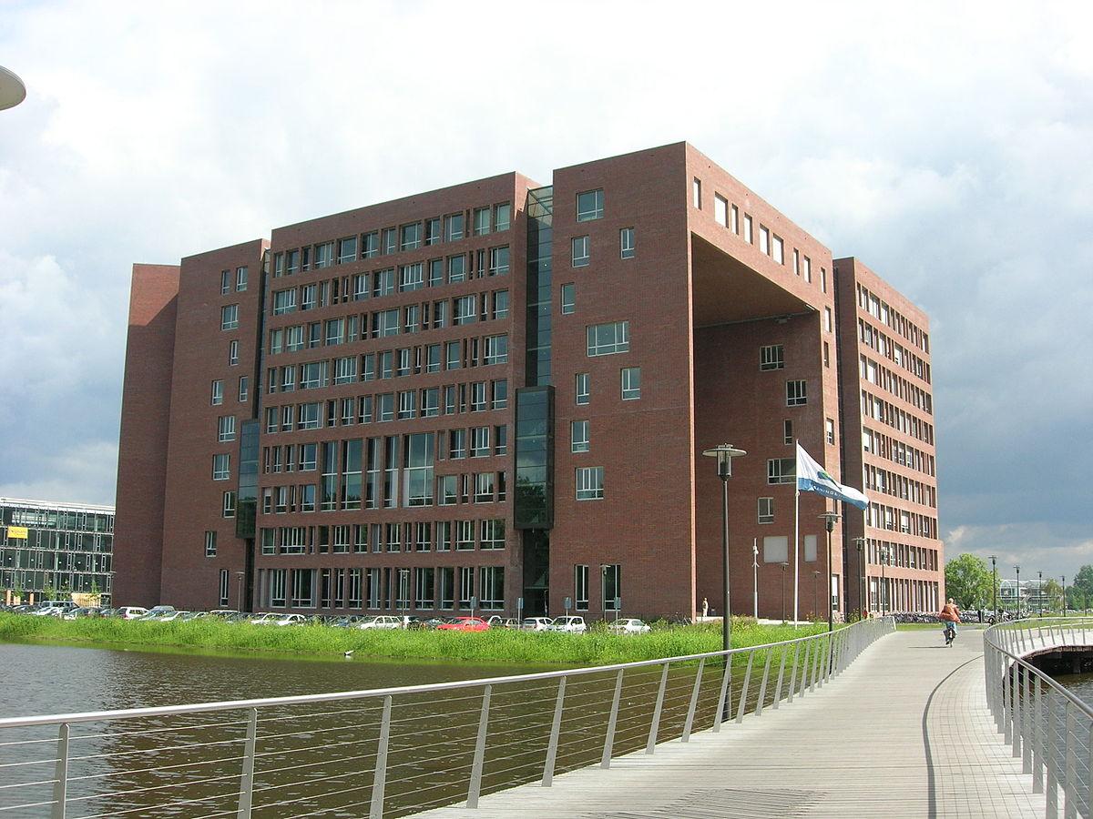 Het Forum gebouw op de campus van de universiteit in Wageningen. (Foto Wikimedia)