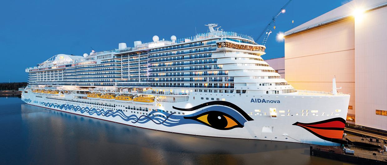 Primeur: de AIDAnova was het eerste cruiseschip wat op LNG voer. (Foto Meyer Werft)