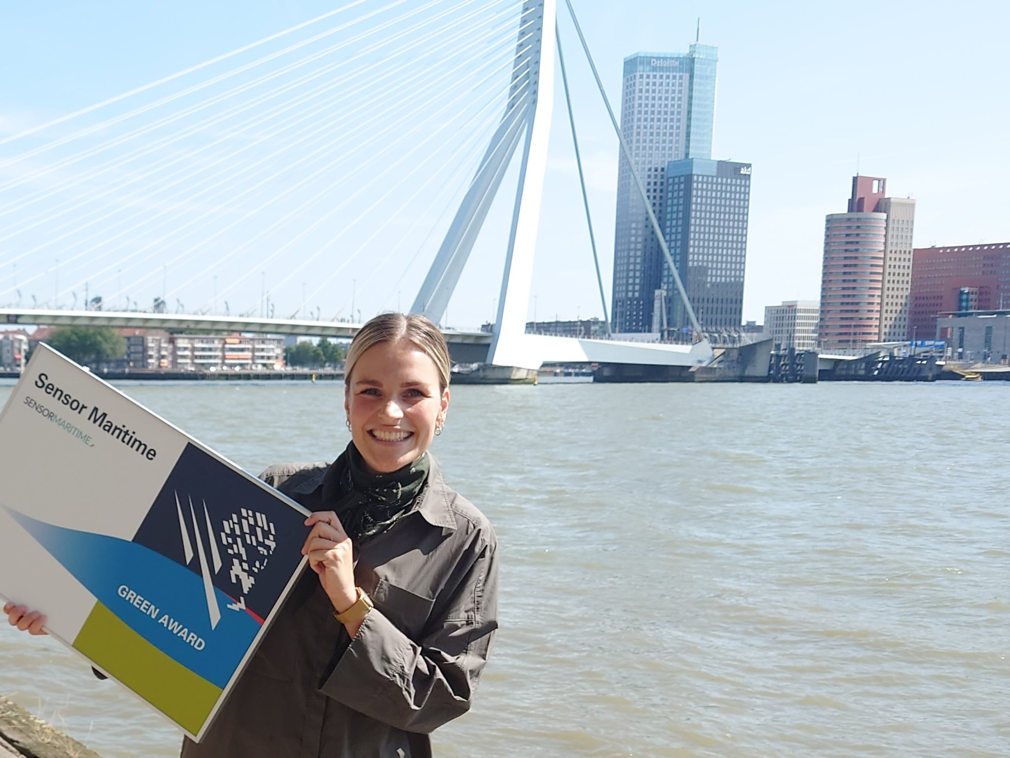 Anouk van de Pol is Team Lead bij Sensor Maritime. (Foto Green Award)