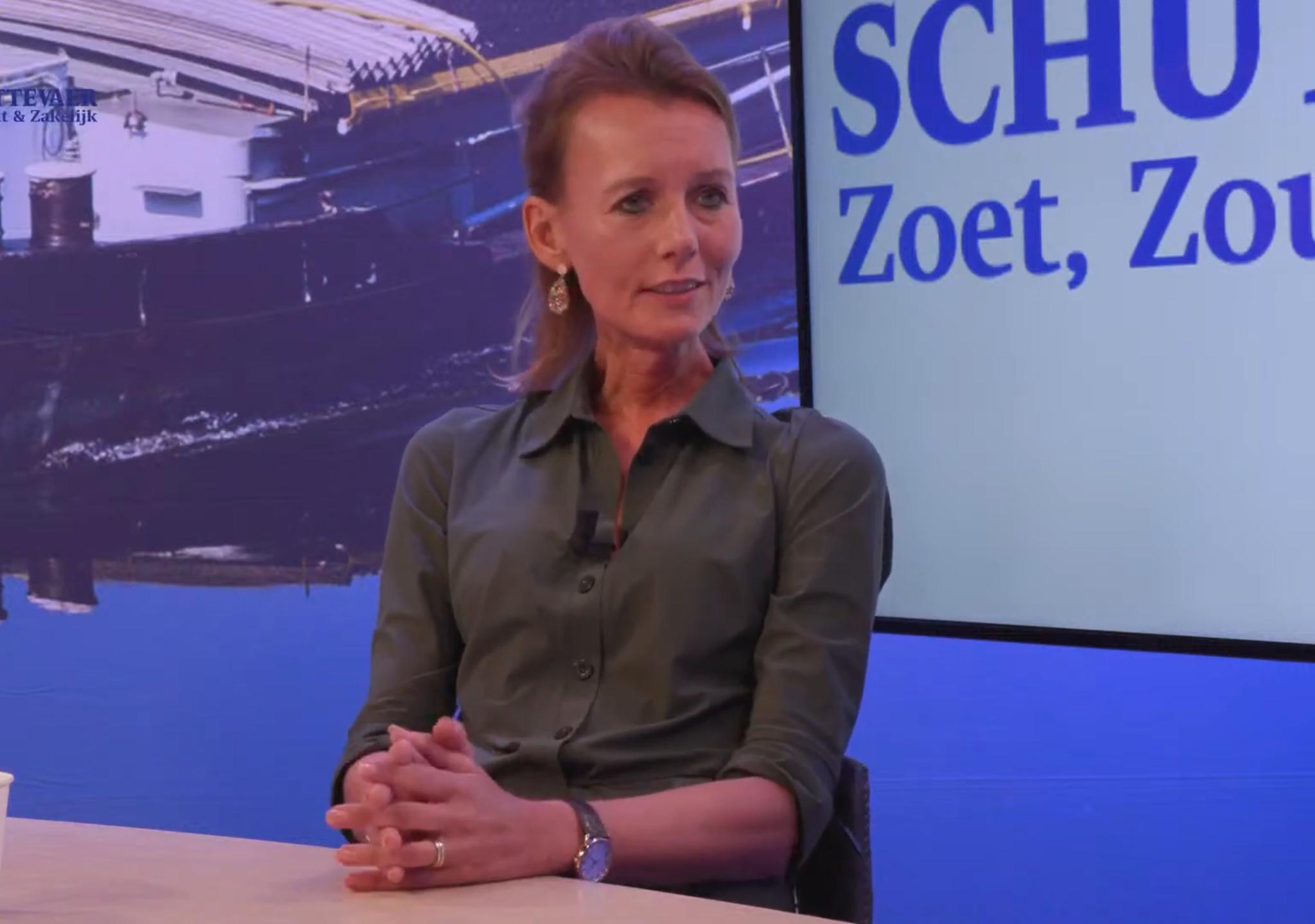 Europarlementariër Caroline Nagtegaal was te gast bij Studio Schuttevaer. (Beeld uit uitzending)