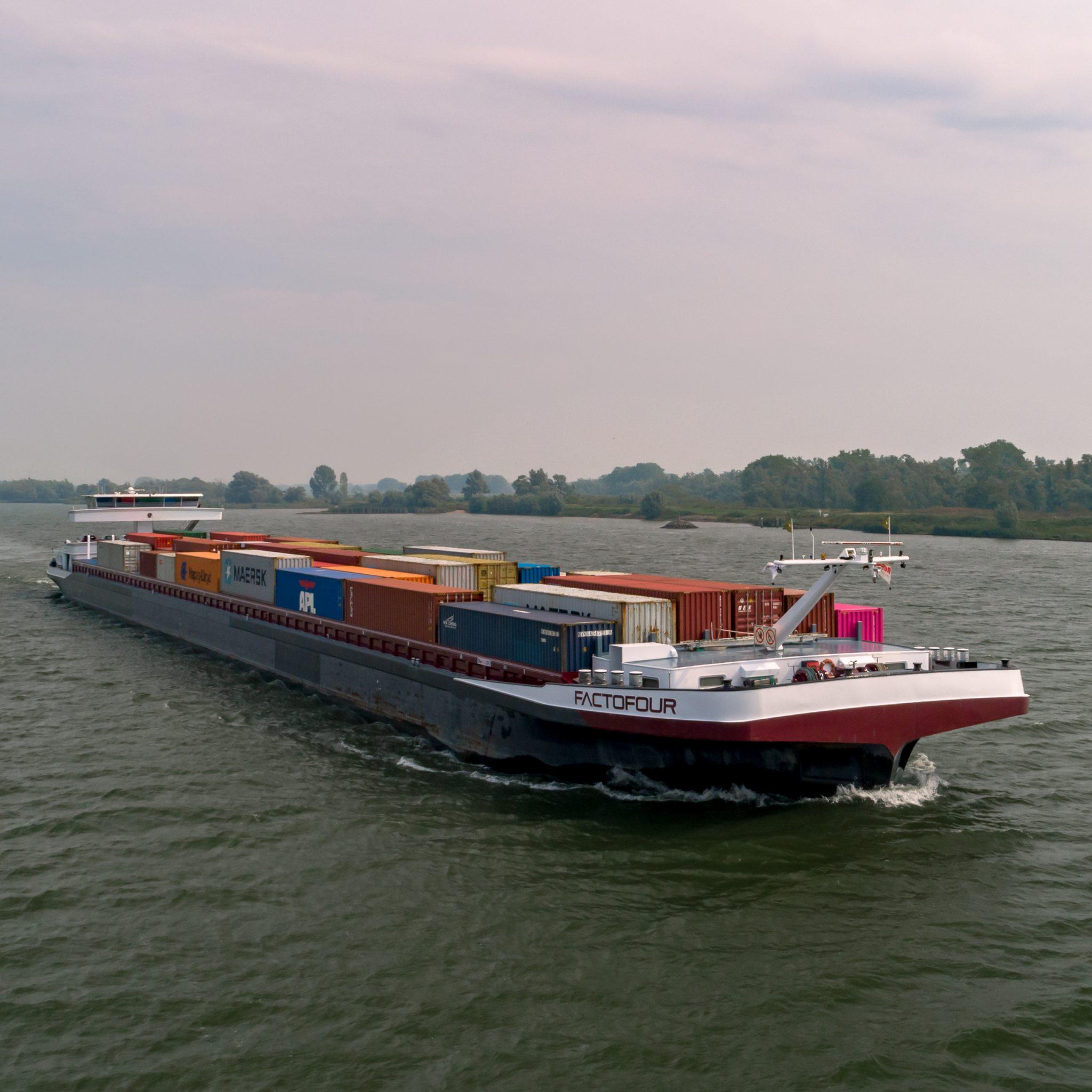 De Factofour is het eerste testschip van ST, de testvloot wordt uitgebreid tot vijf. (Foto Shipping Technology)