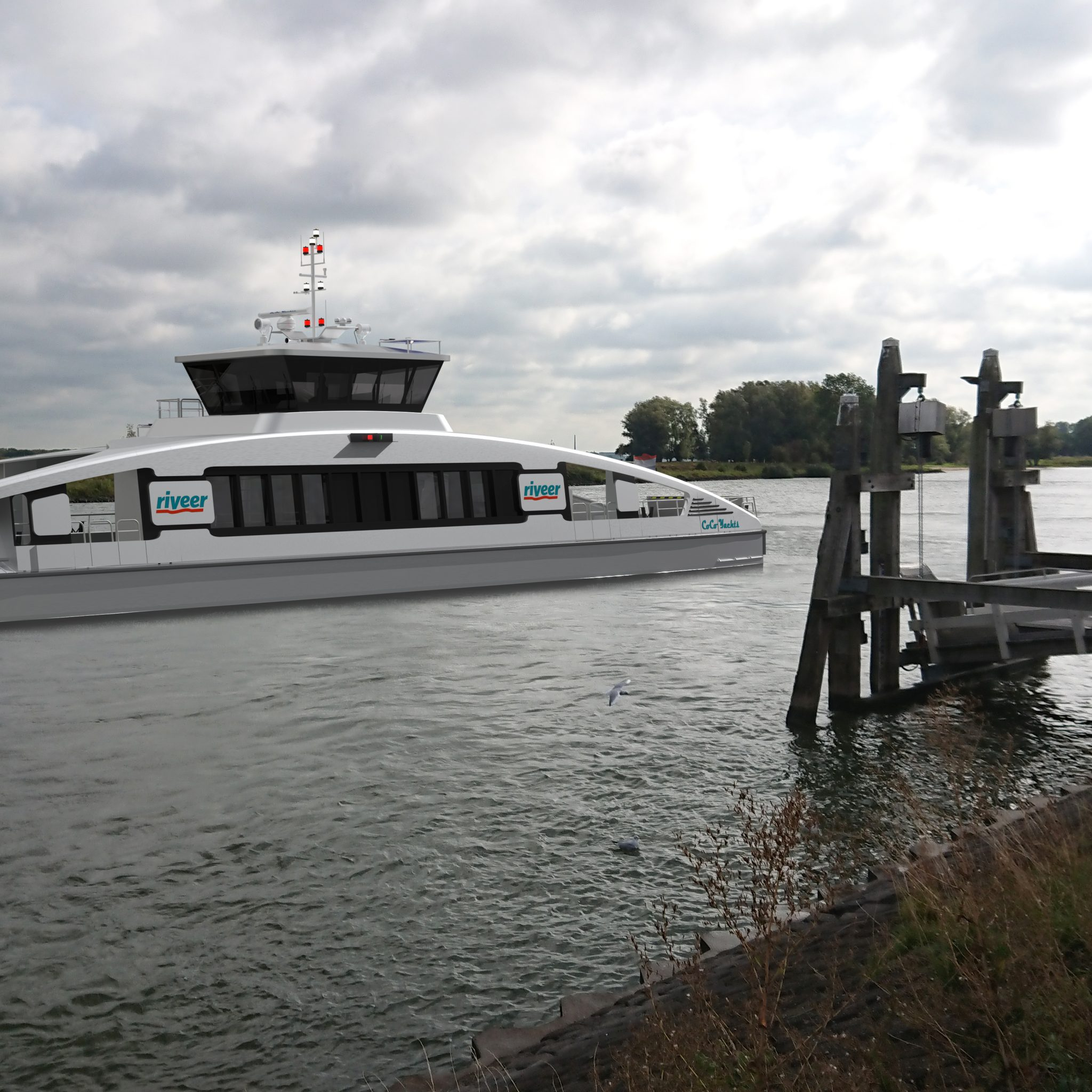 Zo moeten de ponten van Riveer er uit gaan zien. (Foto Holland Shipyards Group)