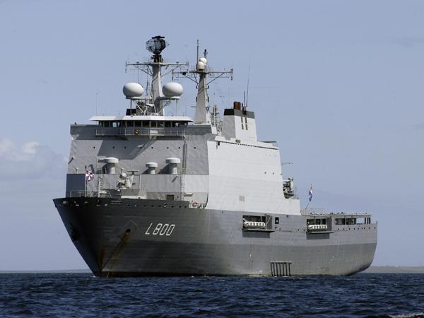 Zr. Ms. Rotterdam werd in 1998 in gebruik genomen. (Foto Defensie)